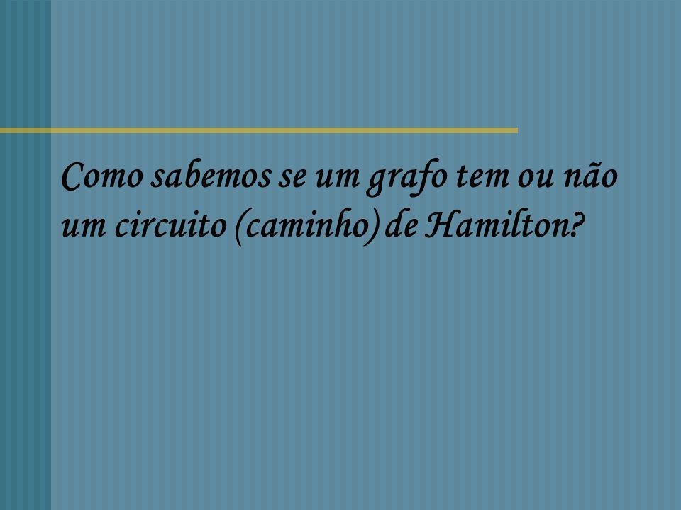Como sabemos se um grafo tem ou não um circuito (caminho) de Hamilton