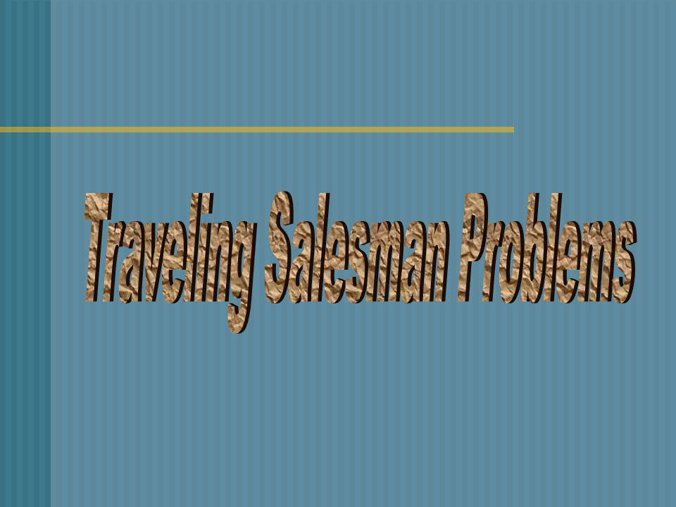 Traveling Salesman Problems