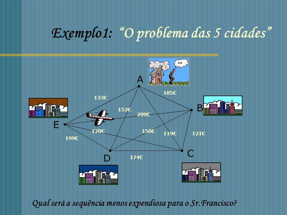 Exemplo1: O problema das 5 cidades