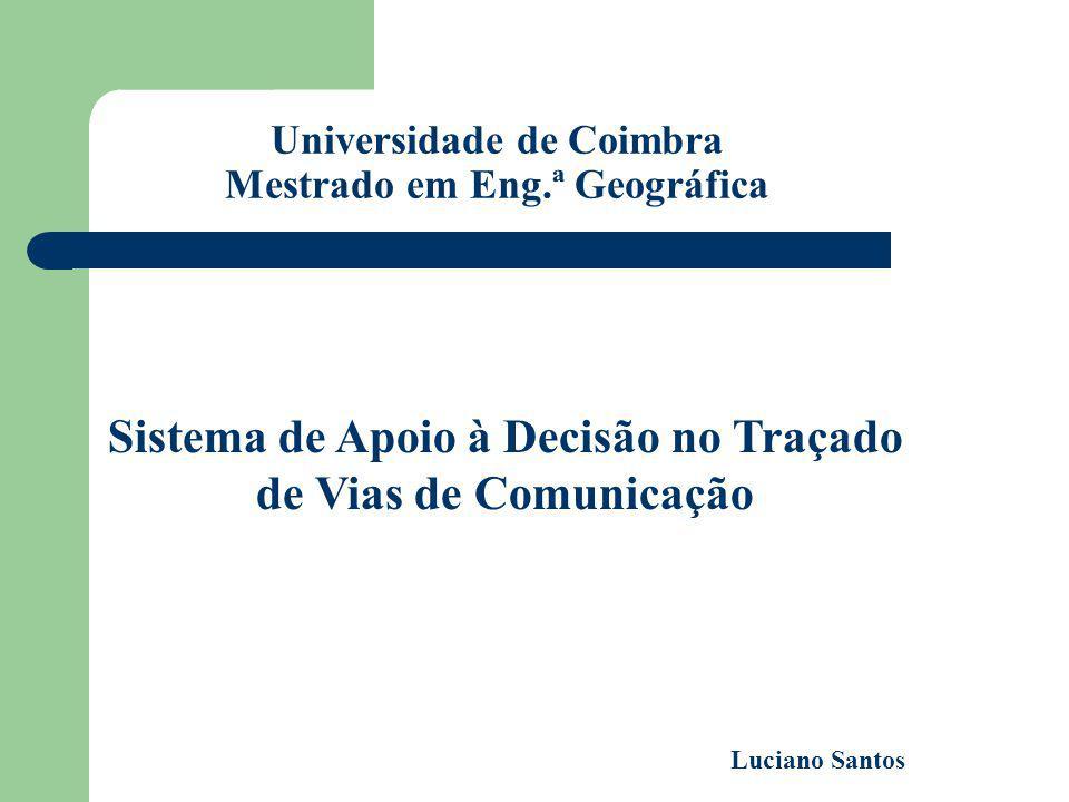 Universidade de Coimbra Mestrado em Eng.ª Geográfica