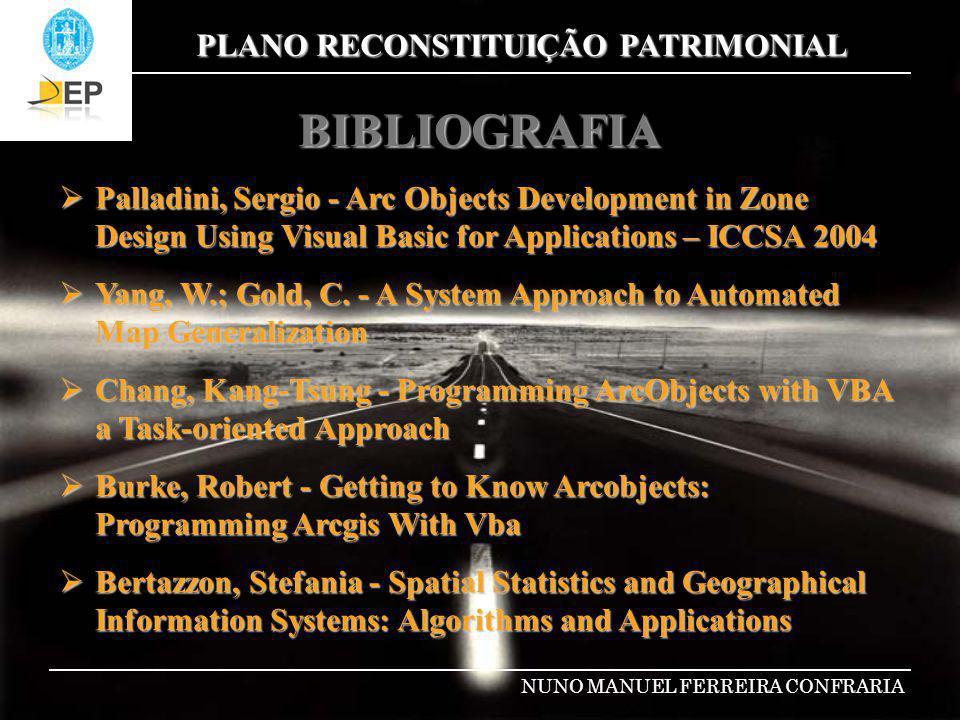 BIBLIOGRAFIA Palladini, Sergio - Arc Objects Development in Zone Design Using Visual Basic for Applications – ICCSA 2004.