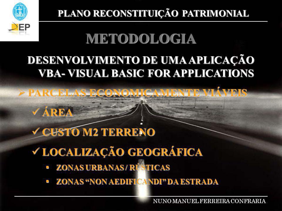 DESENVOLVIMENTO DE UMA APLICAÇÃO VBA- VISUAL BASIC FOR APPLICATIONS