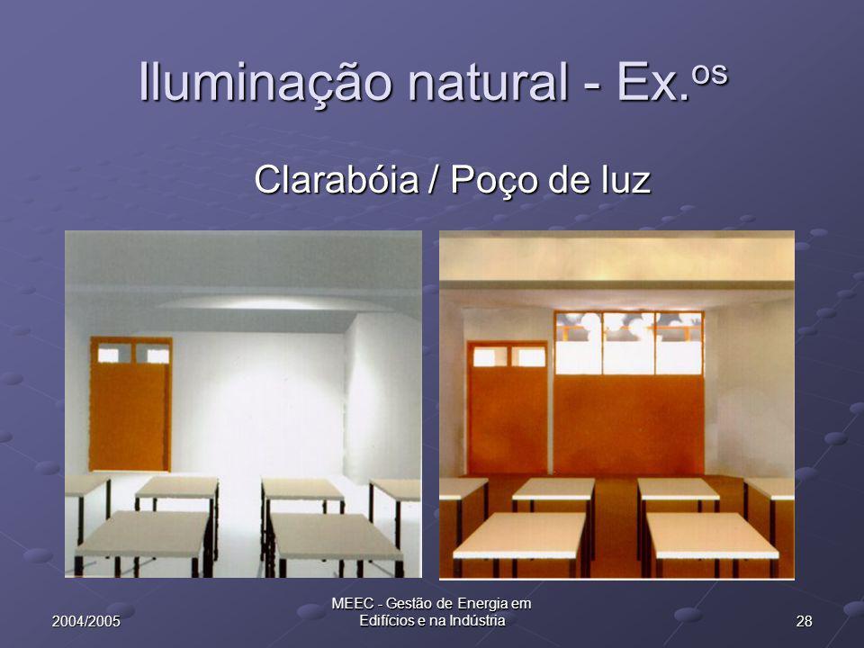 Iluminação natural - Ex.os