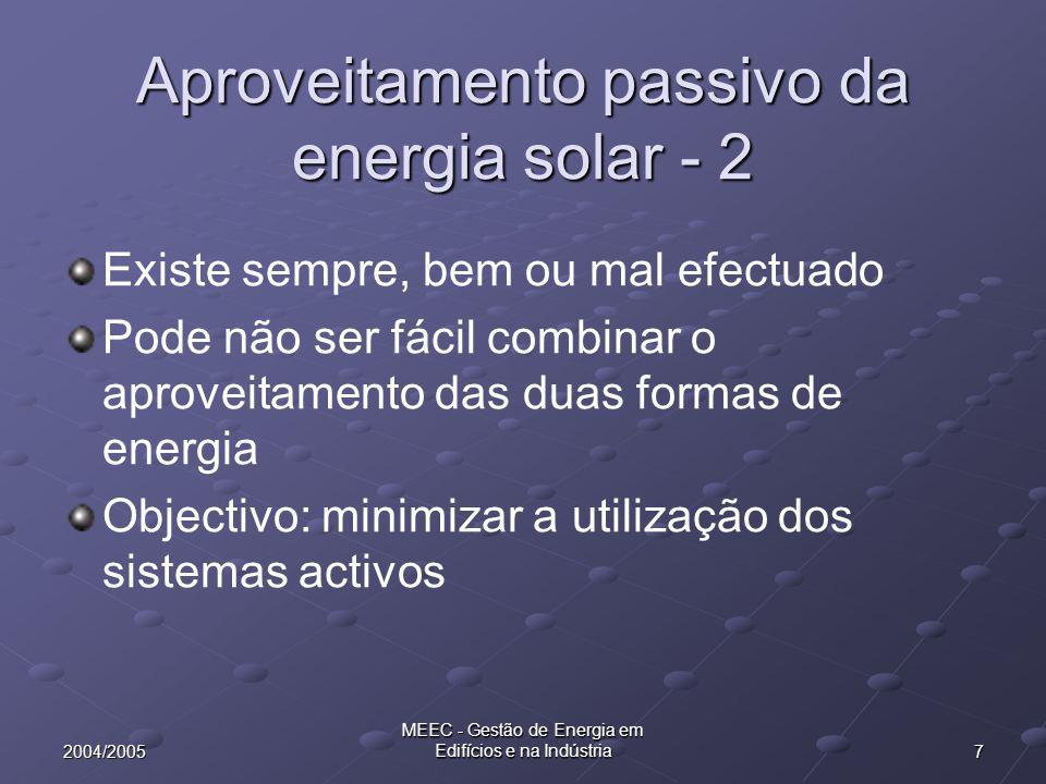 Aproveitamento passivo da energia solar - 2