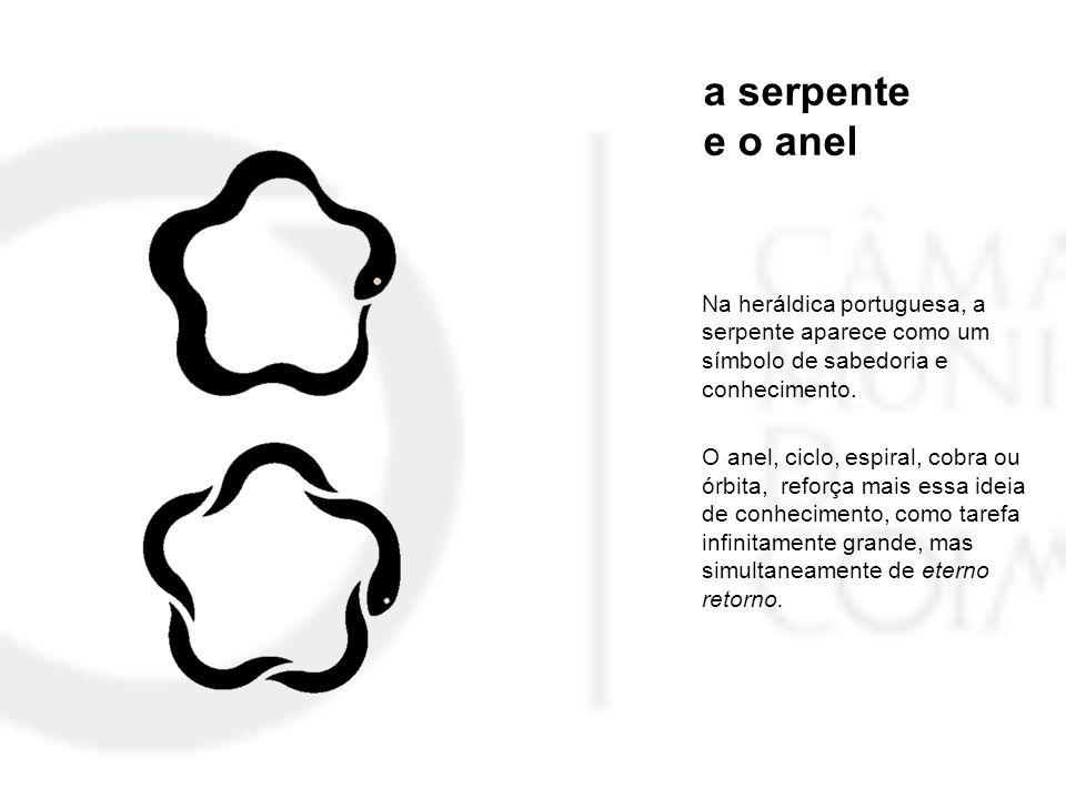 a serpente e o anel Na heráldica portuguesa, a serpente aparece como um símbolo de sabedoria e conhecimento.