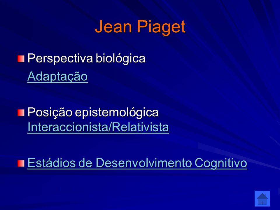 Jean Piaget Perspectiva biológica Adaptação