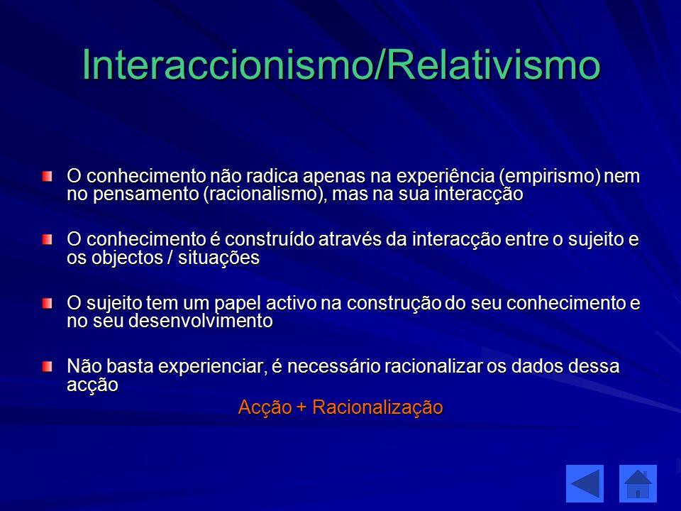 Interaccionismo/Relativismo