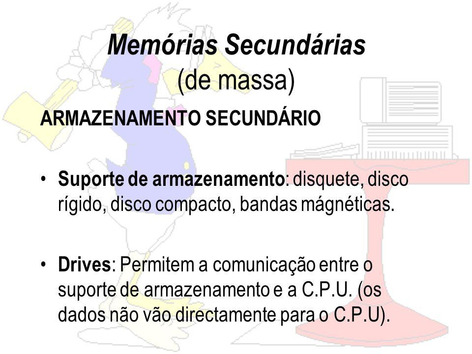 Memórias Secundárias (de massa)
