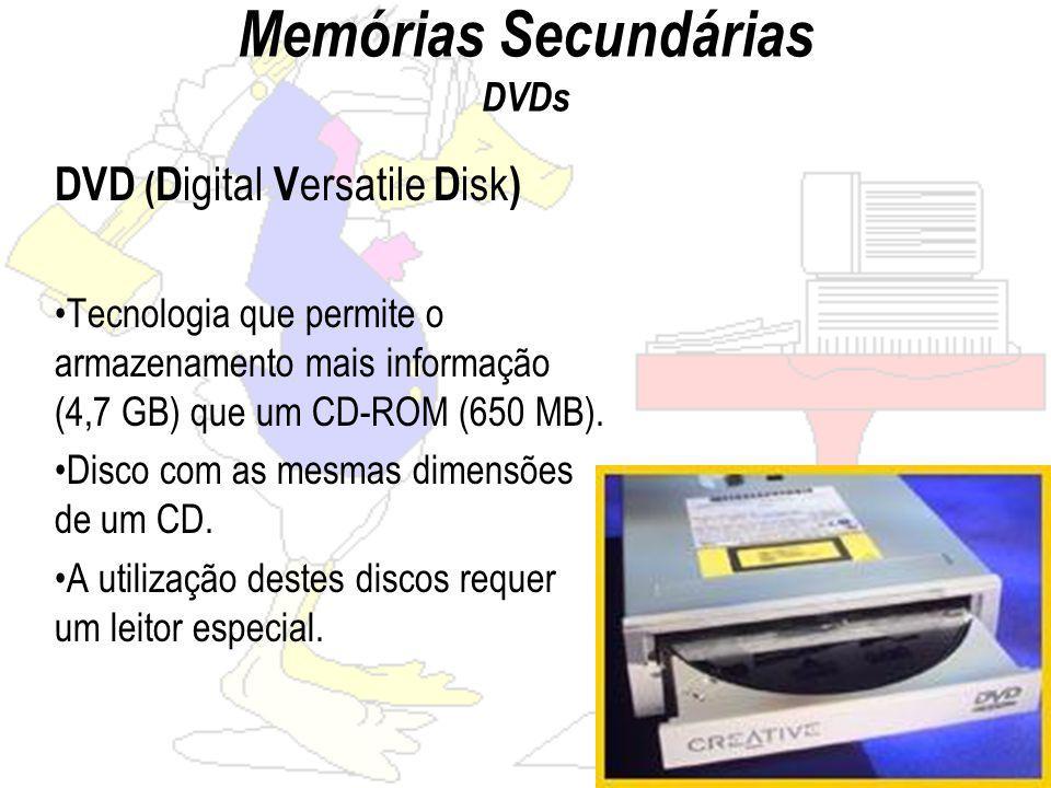 Memórias Secundárias DVDs