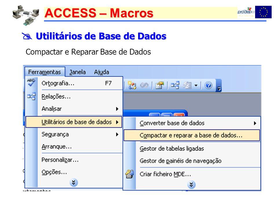  Utilitários de Base de Dados