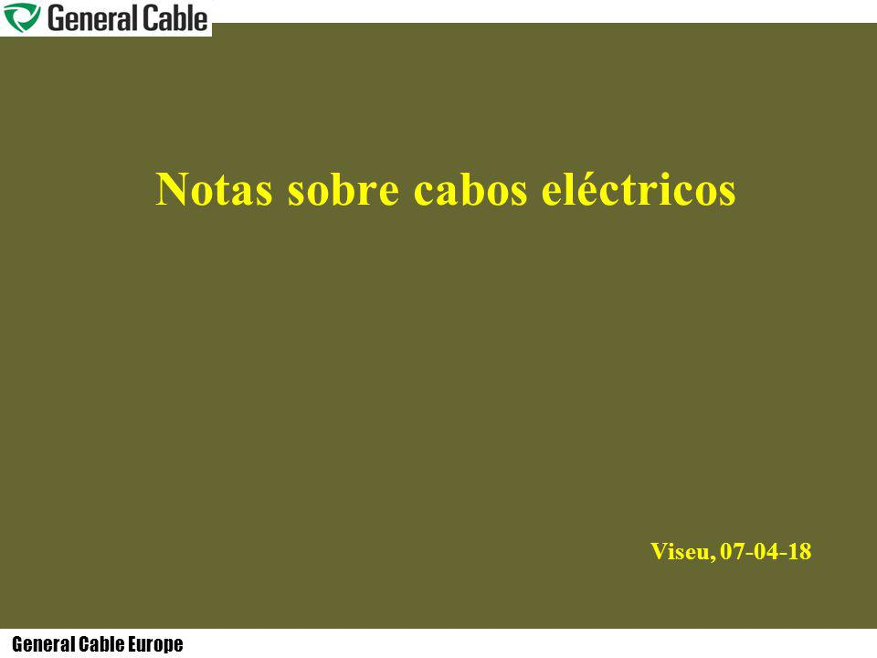 Notas sobre cabos eléctricos