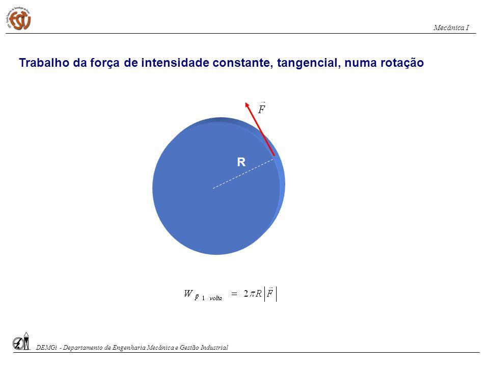 Trabalho da força de intensidade constante, tangencial, numa rotação