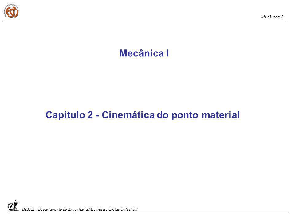 Capitulo 2 - Cinemática do ponto material