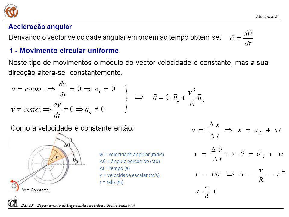1 - Movimento circular uniforme
