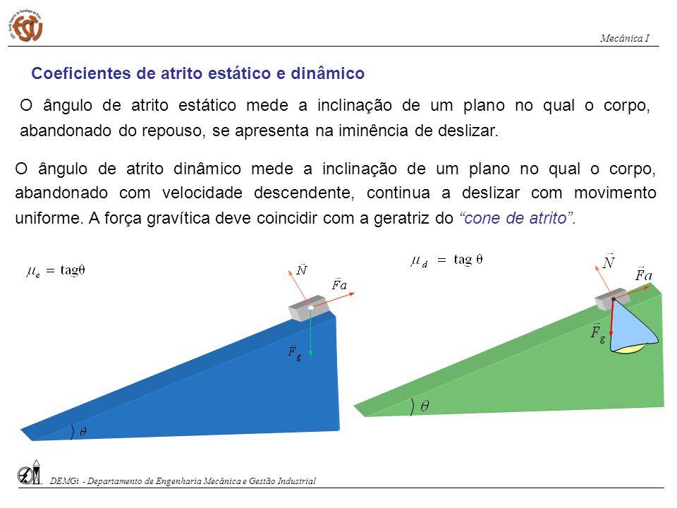 Coeficientes de atrito estático e dinâmico