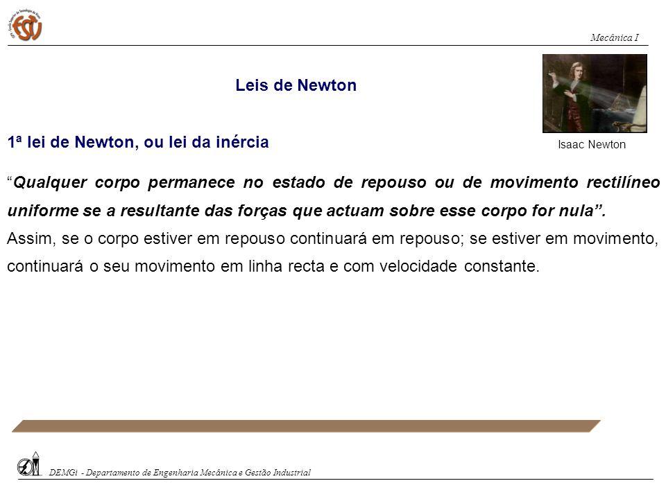 1ª lei de Newton, ou lei da inércia