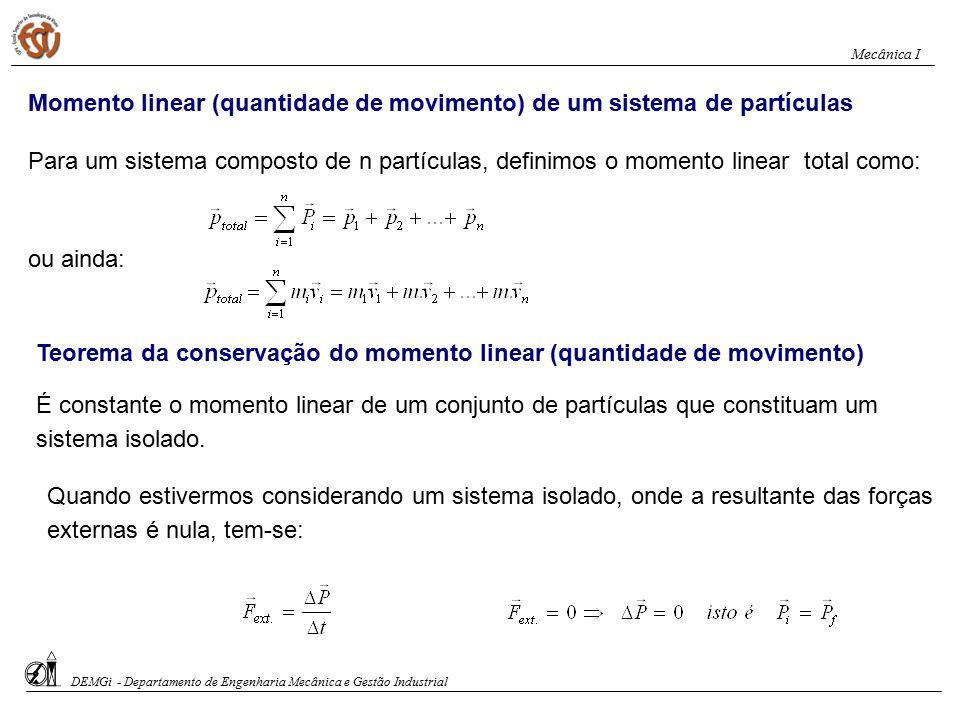 Momento linear (quantidade de movimento) de um sistema de partículas