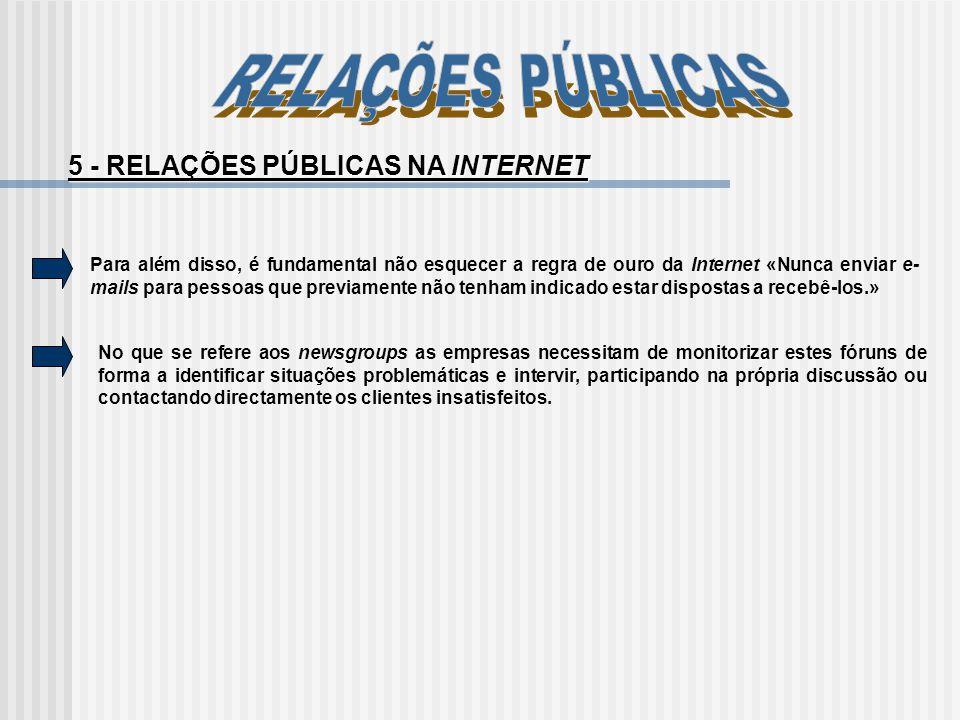5 - RELAÇÕES PÚBLICAS NA INTERNET