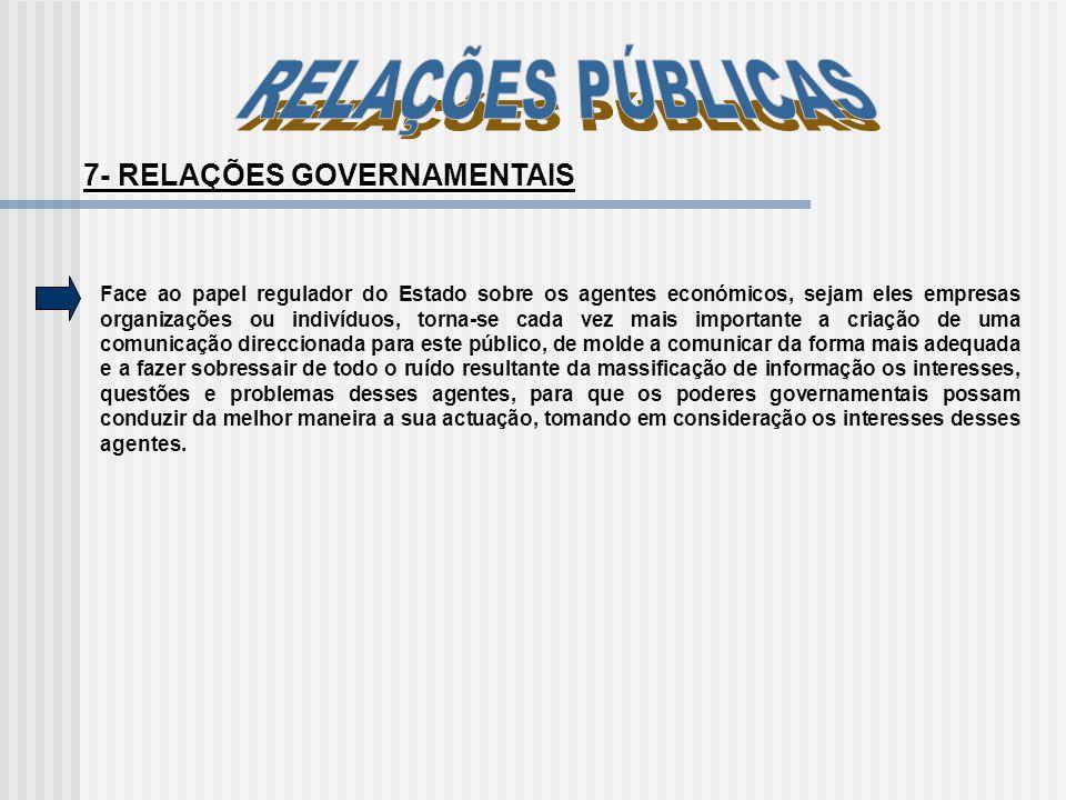 7- RELAÇÕES GOVERNAMENTAIS