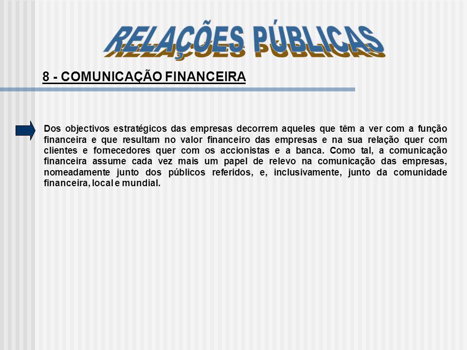 8 - COMUNICAÇÃO FINANCEIRA