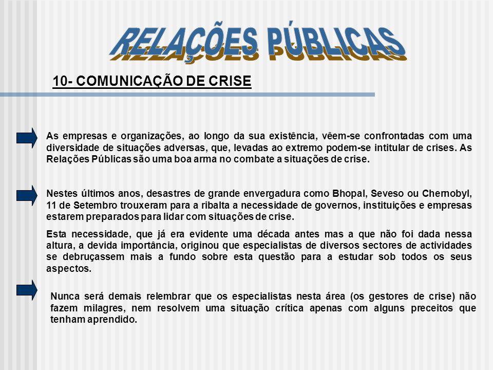 RELAÇÕES PÚBLICAS 10- COMUNICAÇÃO DE CRISE