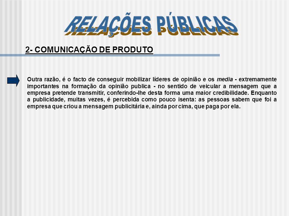 2- COMUNICAÇÃO DE PRODUTO