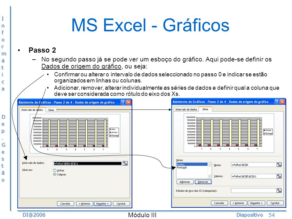 MS Excel - Gráficos Passo 2