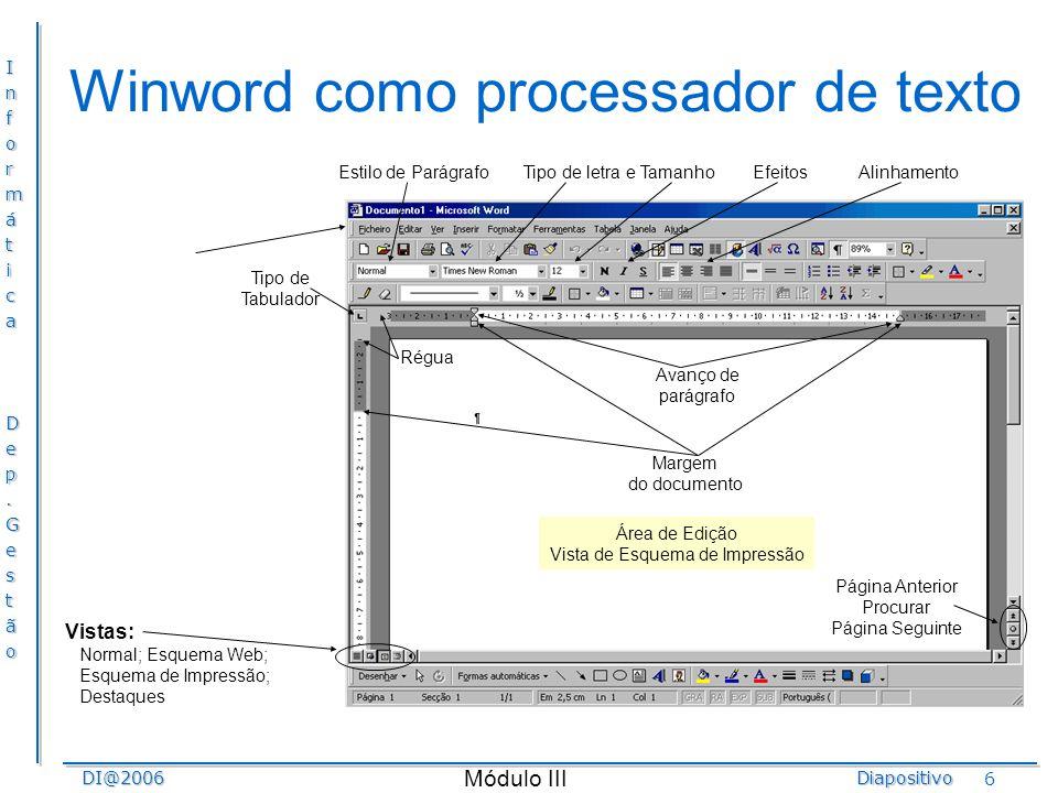 Winword como processador de texto