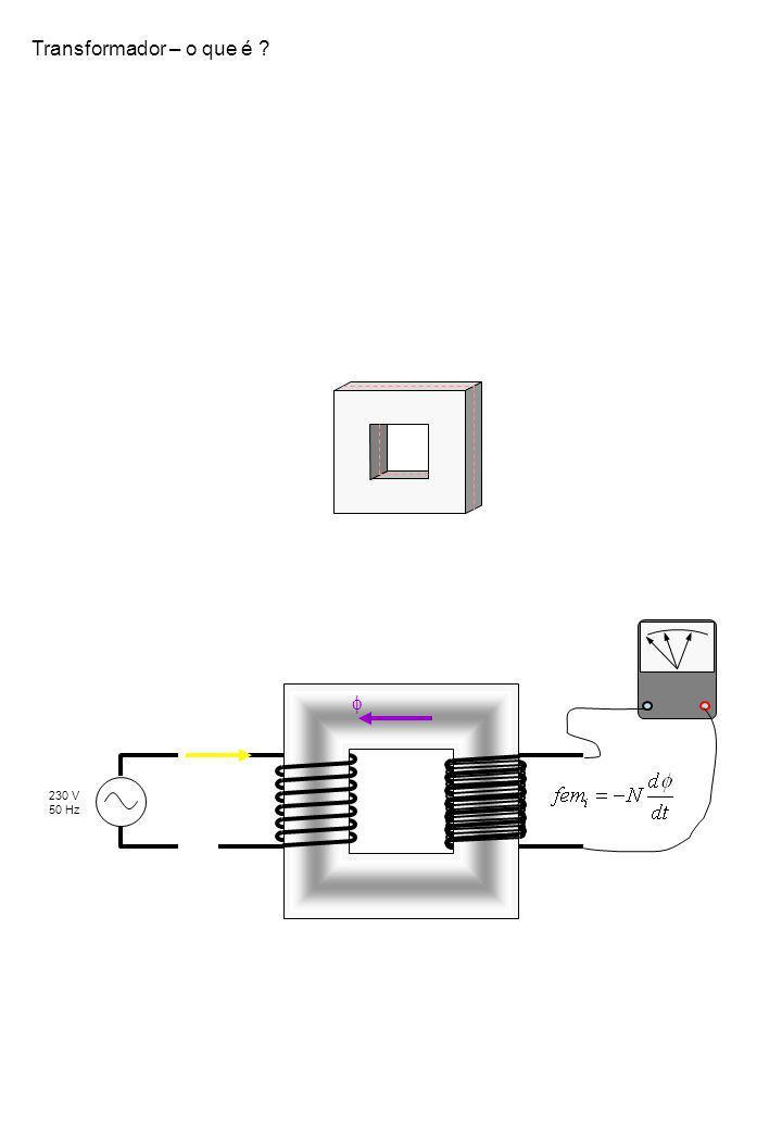 Transformador – o que é f 230 V 50 Hz