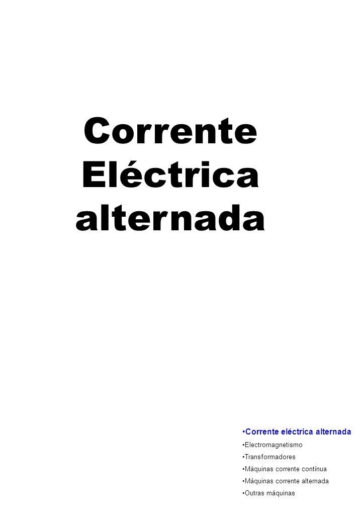 Corrente Eléctrica alternada Corrente eléctrica alternada