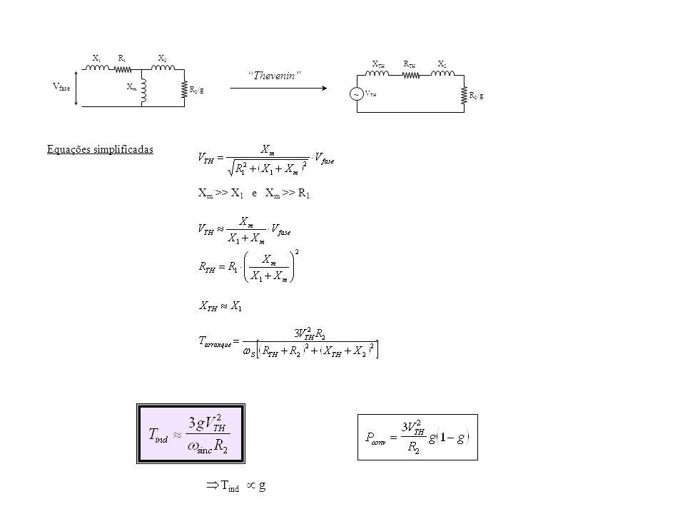 Þ Tind µ g Thevenin Equações simplificadas