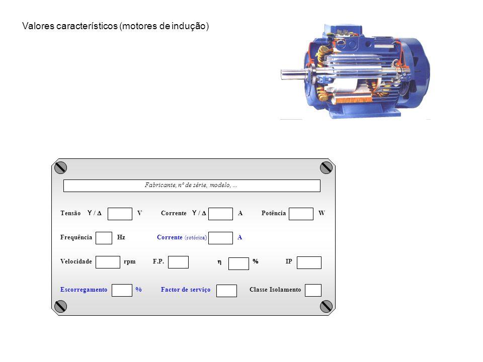 Valores característicos (motores de indução)