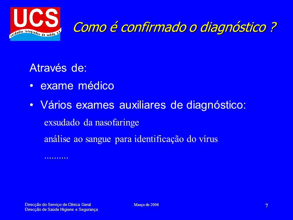 Como é confirmado o diagnóstico