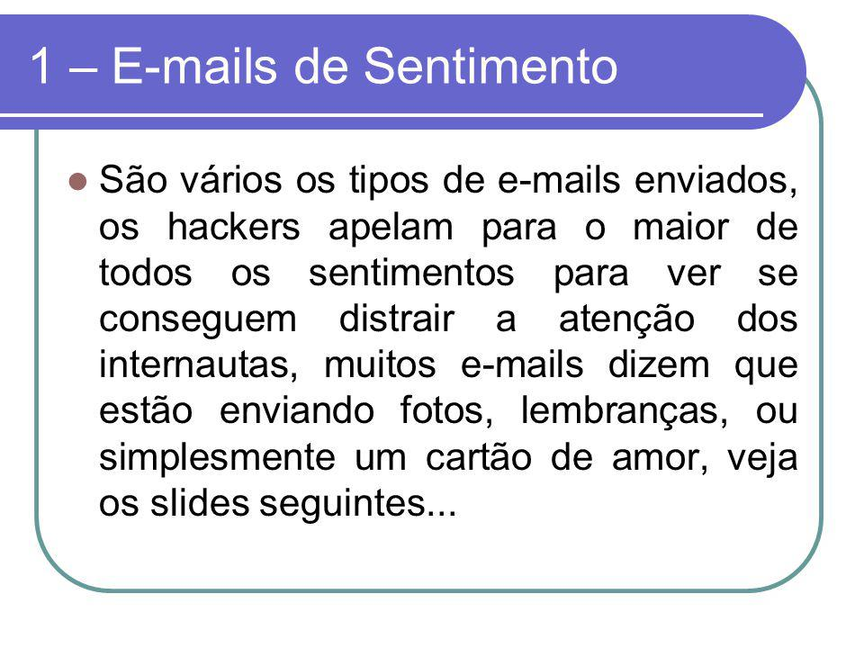 1 – E-mails de Sentimento