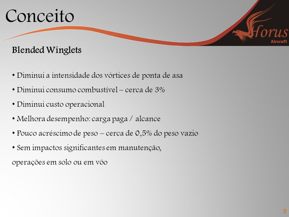 Conceito Blended Winglets