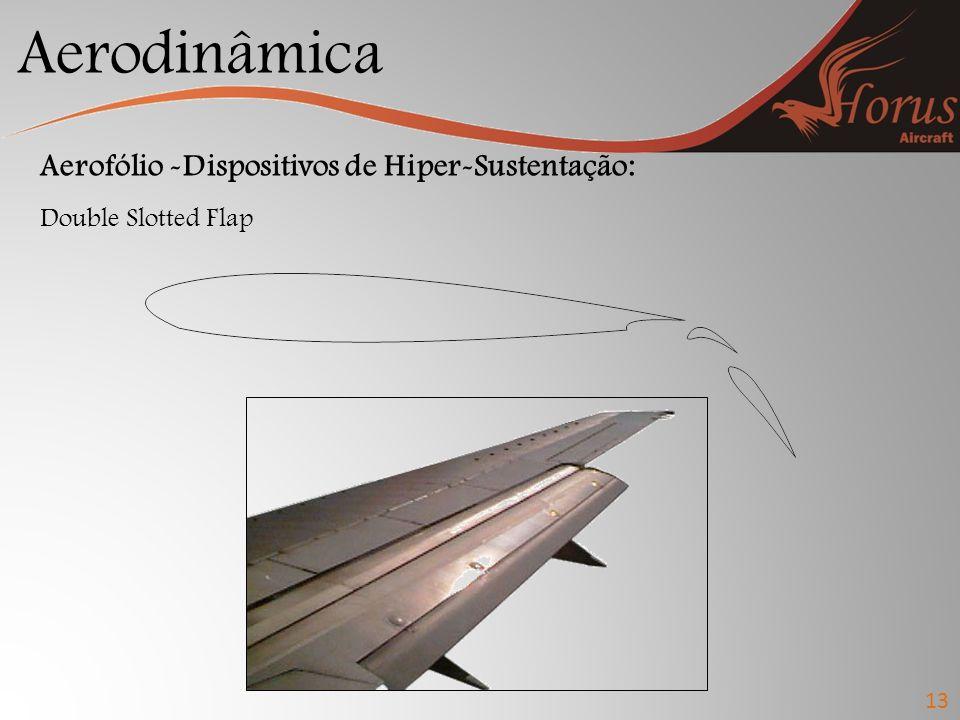 Aerodinâmica Aerofólio -Dispositivos de Hiper-Sustentação: Double Slotted Flap 13