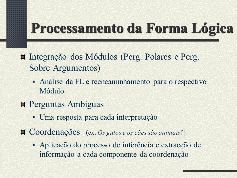 Processamento da Forma Lógica