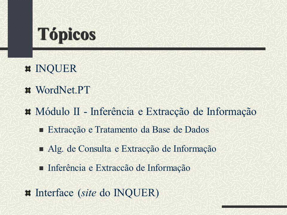 Tópicos INQUER WordNet.PT