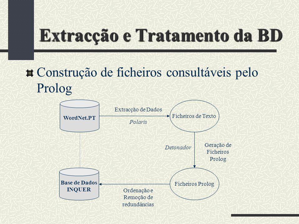 Extracção e Tratamento da BD