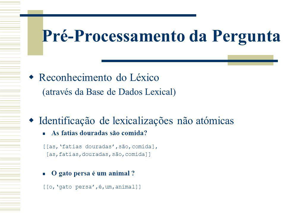 Pré-Processamento da Pergunta