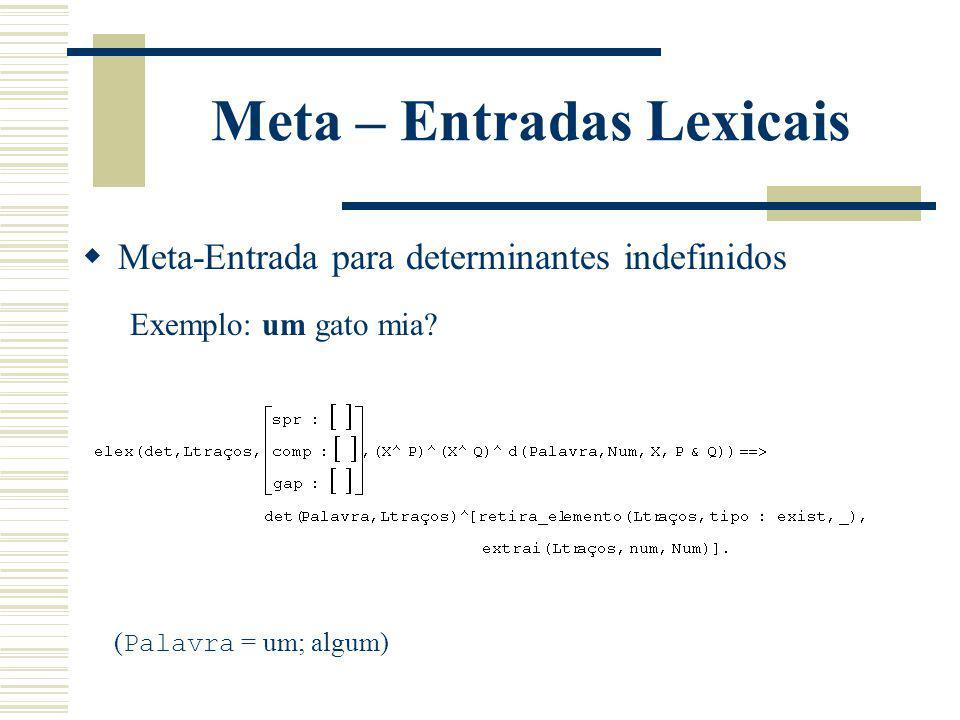 Meta – Entradas Lexicais