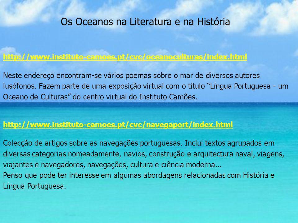 Os Oceanos na Literatura e na História