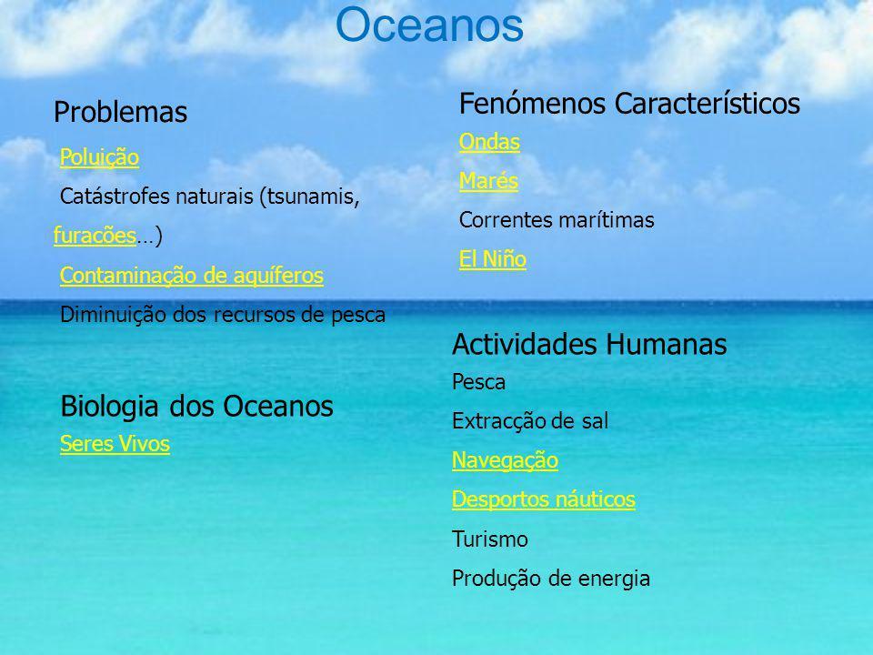 Oceanos Problemas Fenómenos Característicos Actividades Humanas