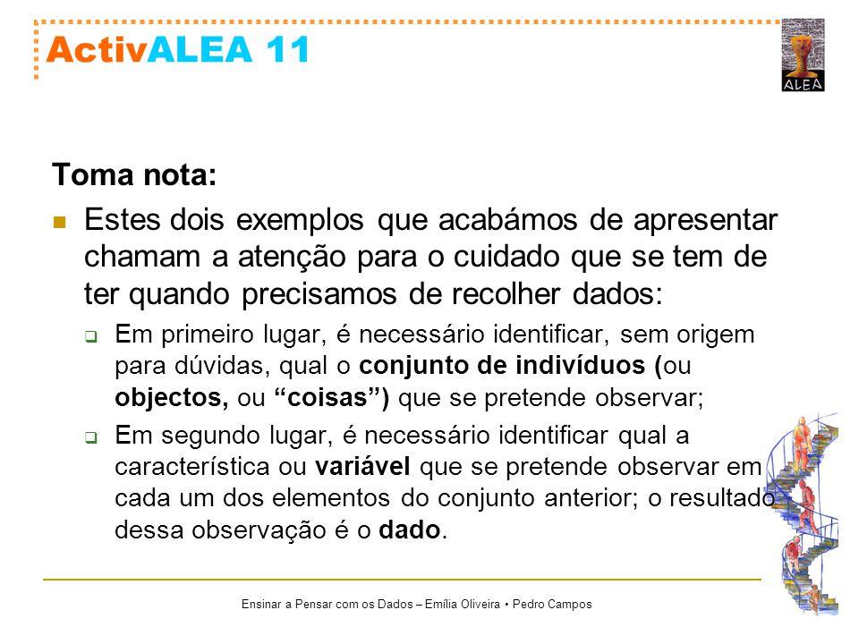 ActivALEA 11 Toma nota: