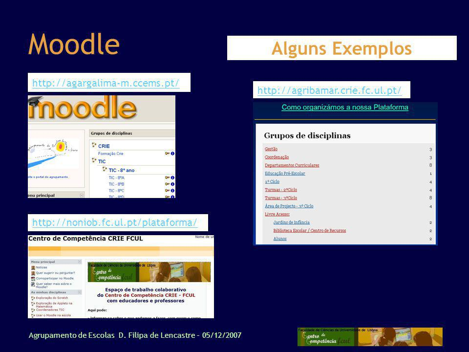 Moodle Alguns Exemplos http://agargalima-m.ccems.pt/