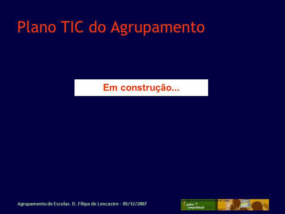 Plano TIC do Agrupamento