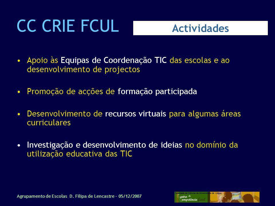 CC CRIE FCUL Actividades
