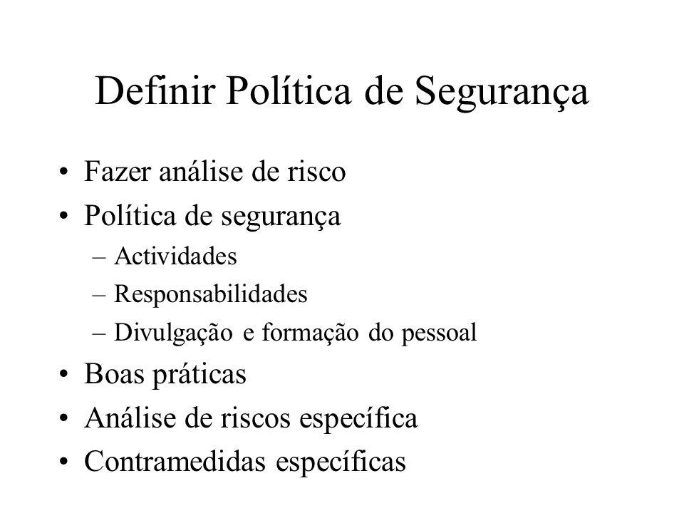 Definir Política de Segurança