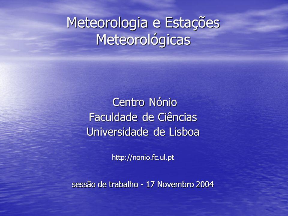 Meteorologia e Estações Meteorológicas