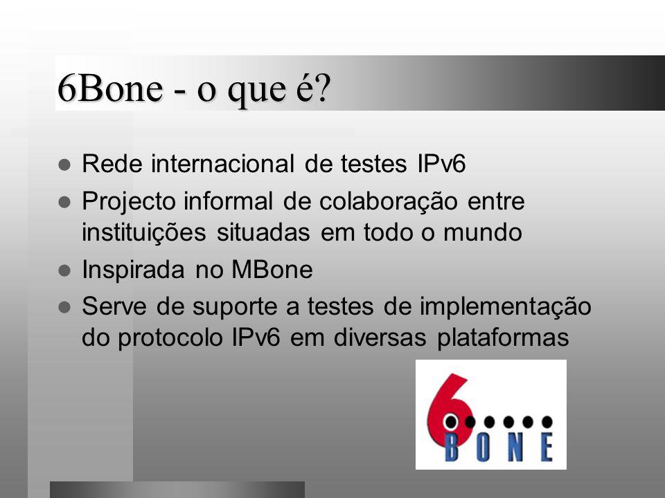 6Bone - o que é Rede internacional de testes IPv6